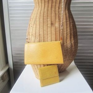 Louis Vuitton Epi Pochette & Wallet Set EUC